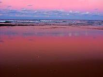 Nambucca dirige l'Australie de coucher du soleil image libre de droits