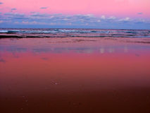 Nambucca Heads solnedgången Australien royaltyfri bild