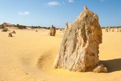 Nambung国家公园石峰澳大利亚 库存照片