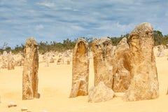 Nambung National Park  Australia, limestone pillars orm one of Australia's most intriguing landscapes. Nambung National Park and Pinnacle desert in Western Royalty Free Stock Photo
