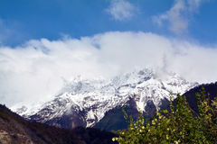 Namcha barwy śniegu góra Obraz Royalty Free
