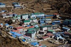 Namche市场尼泊尔 库存照片