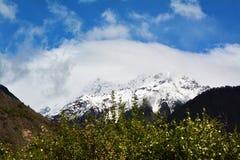 Namche barwy śniegu góra Zdjęcia Stock