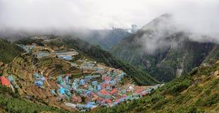 Namche-Basardorf, Nepal Himalaja stockfotos