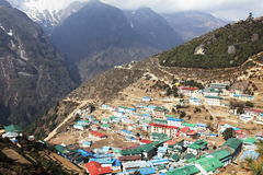Namche Bazaar Royalty Free Stock Photography