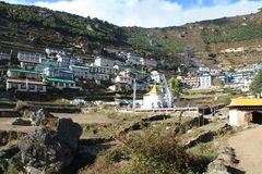 Namche Bazaar Royalty Free Stock Photos