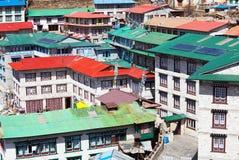 Namche Bazaar Stock Image