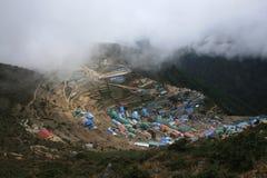 Namche Bazaar. The large village on the trek. Nepal 2008 Stock Image