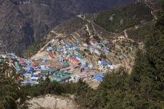 Namche bazaar everest region nepal Royalty Free Stock Image