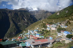 Namche Bazaar - Everest village Royalty Free Stock Image