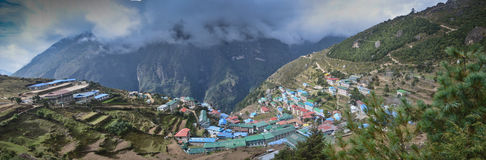 Namche Bazaar - Everest village Stock Photography