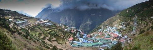 Namche Bazaar - Everest village Stock Image