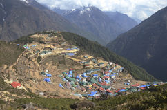 Namche Bazaar Stock Photos