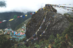 Namche Bazaar in the Khumbu Region of Nepal Stock Photography