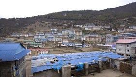 Namche bazaar sagarmatha np nepal Royalty Free Stock Photography