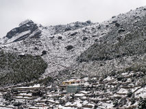 Namche Bazaar in Snow Royalty Free Stock Photography