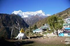 Namche Bazaar village in Nepal Stock Images