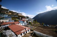 Namche Bazaar village in Nepal Stock Image