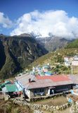 Namche Bazaar village in Nepal Stock Photography