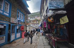 Namche Bazaar village in Nepal Royalty Free Stock Photos