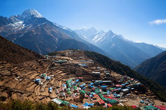Namche Bazaar village, Nepal Royalty Free Stock Images