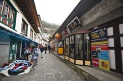 Namche Bazaar village in Nepal Stock Photography