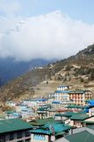 Namche Bazaar village view - capital of sherpa people ,Nepal Royalty Free Stock Image