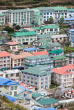 Namche Bazar - biggest village in Khumbu valley Royalty Free Stock Image