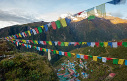 Namche Bazar - biggest village in Khumbu valley, Nepal Stock Photography