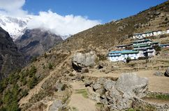 Namche Bazar - capital of sherpas ,Sagarmatha region,Nepal,Asia royalty free stock photography