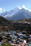 Namche Bazar - Nepal. Scenic Namche Bazar, the last stop for internet on the way to Everest Stock Image