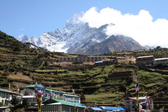Namche Bazar - Nepal. Scenic Namche Bazar, the last stop for internet on the way to Everest Royalty Free Stock Photos
