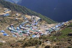 Namche Bazar - Nepal Himalayagebergte Royalty-vrije Stock Afbeeldingen