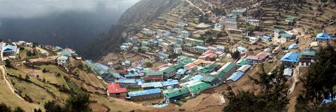 Namche Bazar sherpa village Royalty Free Stock Photography