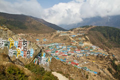 Namche Bazar Stock Photography