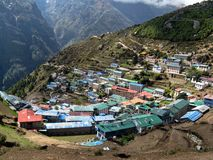 Namche bazzar Royalty Free Stock Photos
