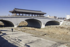 Namcheongyo bridge in Jeonju. South Korea Royalty Free Stock Images
