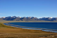 Namco Lake. With an area of 1,940 square kilometers, the Namco Lake, the largest inland saltwater lake in Tibet, China Royalty Free Stock Images