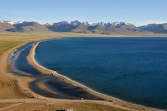 Namco Lake. With an area of 1,940 square kilometers, the Namco Lake, the largest inland saltwater lake in Tibet, China Stock Photo
