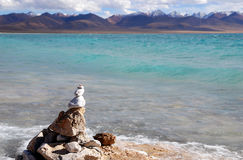 Namco landscapes of Tibet Stock Image
