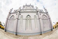 NAMDINH, VIETNAM - 21 décembre 2014 - architecture d'une entrée de la cathédrale grande de Phu Nhai Image libre de droits