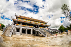 NAMDINH, VIETNAM - SEPTEMBER 2, 2014 - Main Pagoda in Truc Lam Thien Truong. Stock Photos