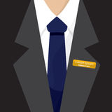 Name Badge On Shirt. Royalty Free Stock Images