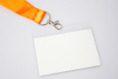 Name badge. On white background Royalty Free Stock Photo
