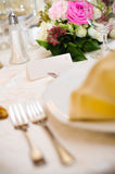 Name card on fancy table Royalty Free Stock Image