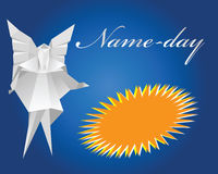 Name-day. Paper angel Royalty Free Stock Photo