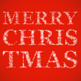 Name der frohen Weihnachten von den Schneeflocken Stockbild