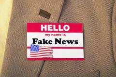 Name is Fake News. Hello my name is Fake News royalty free stock image