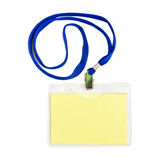 Name id card badge. With cord (rope) isolated Royalty Free Stock Images