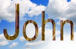 Name John in cloudscape